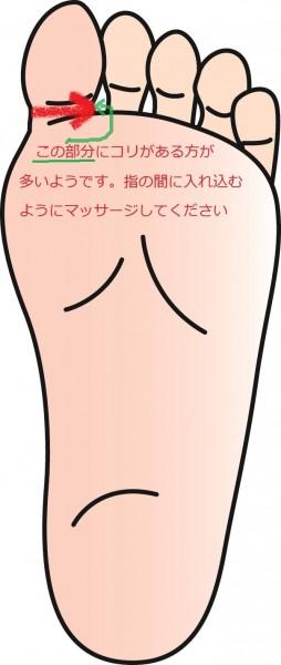 首コリに効くセルフ・リフレクソロジーの図