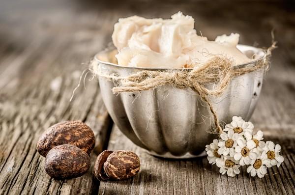 シアバター種子とシアバタークリーム